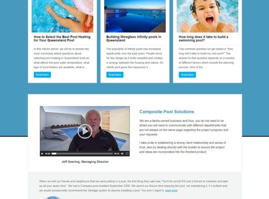 Catnapweb Case Study Composite Pool Solutions Landing Pages Conversions Pool Heating