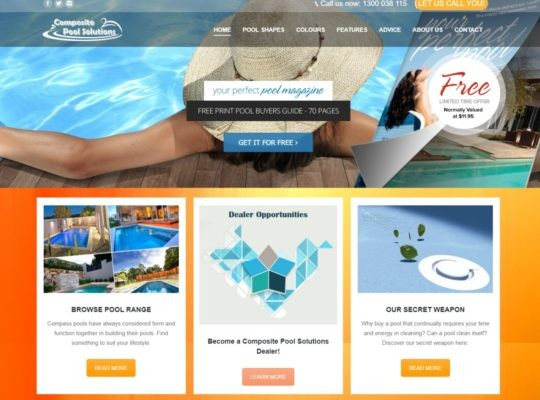 Catnapweb Case Study Composite Pool Solutions Webdesign Homepage