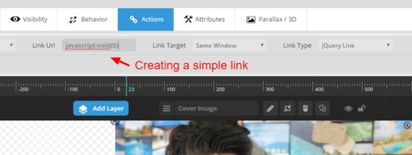 Catnapweb Advice - Creating Video Gallery in WordPress - 1-2 Creating a Link in Actions in Slider Revolution